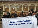 Solidarity action in Lund, Sweden